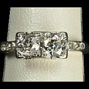 SALE .92 Carat Vintage Wedding Ring