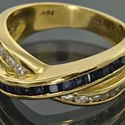 SALE 1.35 Carat Sapphire and Diamond Ring
