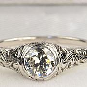 SALE .75 Carat Edwardian Style Diamond Ring