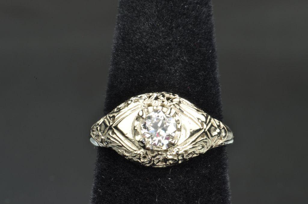 .45 Carat Old European Cut Diamond Wedding/Engagement Ring