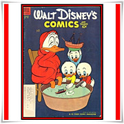 SALE 1954 Walt Disney's Comics and Stories Comic, No. 160, with LA Rams Tom Fears, Marked 50