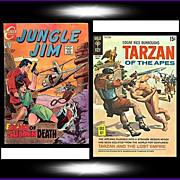 SALE 1969 Jungle Jim Comic, No. 26, & 1970 Tarzan Of The Apes Comic, No. 194, Marked 50% Off