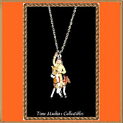 SALE 1980 Tonto with Horse Scout Charm Pendant Necklace, Mint