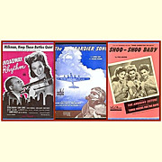 SOLD Three Memorable Pieces of WWII Era Sheet Music - Red Tag Sale Item