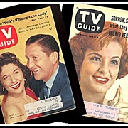 SALE Two TV Guides with Lawrence Welk & Marjorie Lord covers, Marked 50% Off