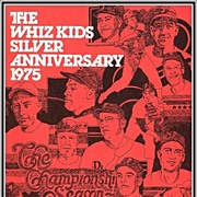 SALE 1975 Phillies Whiz Kids Silver Anniversary Souvenir Baseball Program, Mint, Marked 50% Of
