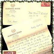SALE 1920's Molinard/Orval Parfum Fragrance Card plus Sweetheart Letter & Envelope, Marked 5