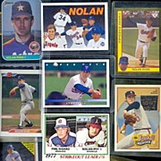 Eleven Assorted Nolan Ryan Baseball Cards, Marked 50% Off