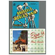 1958 Brussels World's Fair Castle 8mm Film & Expo 58 Souvenir Album, Marked 50% Off