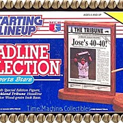 1991 Jose Canseco Starting Lineup Headline Collection, Marked 50% Off