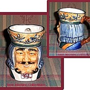 SALE Large Occupied Japan King with Crown Toby Mug, Marked Over 50% Off