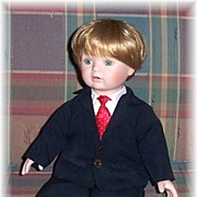 SALE Michael's First X'mas Doll, Dynasty Doll Collection Doll No. D738, Marked Over 50% Of