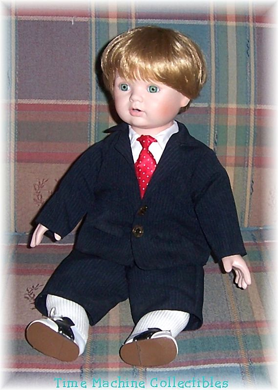 Michael's First X'mas Doll, Dynasty Doll Collection Doll No. D738, Marked Over 50% Off