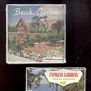 SALE 1970's Cypress Gardens & Busch Gardens View-Master 3 Reel Sets, Unopened, Marked Over 5