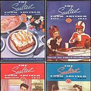 Four WWII Era 1941/42 The Sealtest Food Adviser Cookbooks