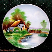 Beautiful Signed Hand Painted Shofu China Occupied Japan Scenic Plate, Marked Over 50% Off