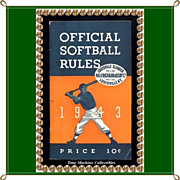 SOLD Rare 1943 Official Softball Rules by Hillerich & Bradsby Company