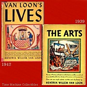 SALE 1937 The Arts & 1942 Van Loon Lives Books, Marked Over 50% Off