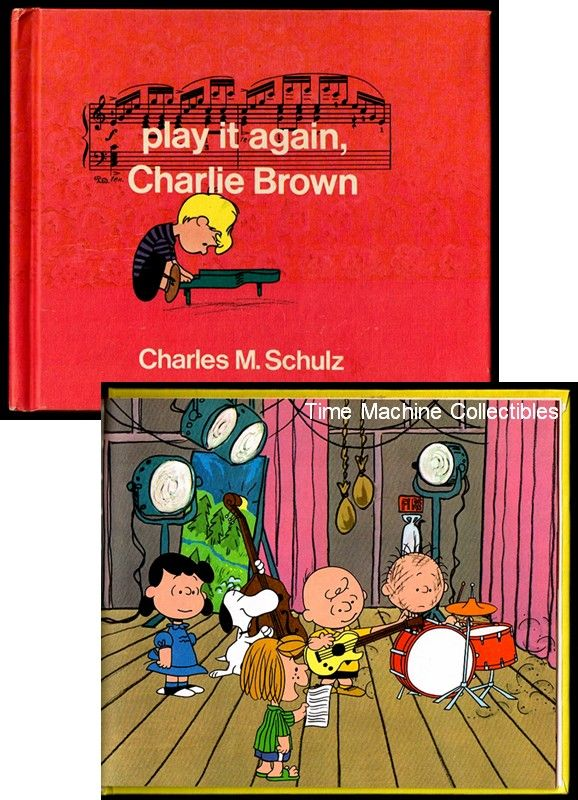 1971 Play It Again Charlie Brown Children's Book