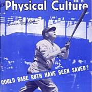 SOLD 1948 Babe Ruth Cover Physical Culture Magazine, November Issue, Marked Over 50% Off