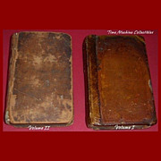 1793 The Works of Horace Volumes I & II, Translated Literally Into English Prose, Marked Over 50% Off
