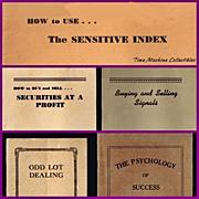 1920's-40's Stock Market Pamphlets by Jacquelin & DeCoppet, Yacki Raizizun and Stephen ...