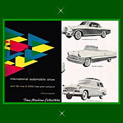 1956 NY International Automobile Show Official Program