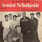1955 Senior Scholastic Magazine with Jesse Owens Cover