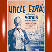 SOLD 1937 Uncle Ezra's Famous Songs, Memory Verses, & Thoughts Of The Day - Red Tag Sale Item