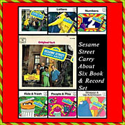 1970 Sesame Street Carry About, 6 Books & Records Set