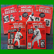 Five 1970's/1980's Who's Who in Baseball Magazines