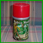 1956 Robin Hood Metal/Glass Thermos by Aladdin