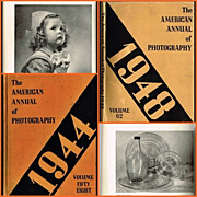 1944 & 1948 The American Annual of Photography Books