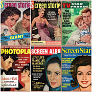 Six Assorted 1950's/1960's TV & Movie Star Magazines