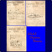 Three 1935 U.S.A.T. Chateau Thierry Army Transport Ship's Newsletters
