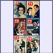 SALE Six Vintage TV Guides From 1956/58/61 and 1963