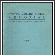 1937 Stephen Collins Foster Memorial Program