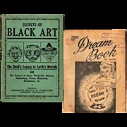 SALE 1930's- 40's Secrets of Black Art Book & Dream Book--Your Dream Future, 8th Edition