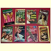 1930's-50's Mystery Paperback Books, Coffin Corner, Crucible, Etc.