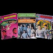 Four 1979 Star Trek 45 RPM Records and Books