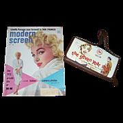SALE 1955 Marilyn Monroe Cover Modern Screen Magazine & MM Wallet Clutch Purse
