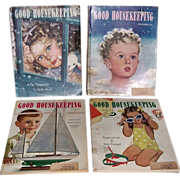 SOLD Four 1946-47 Post WWII Good Housekeeping Magazines