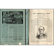 1909 The Prophetic News and Israel's Watchman Booklet by Rev. M. Baxter