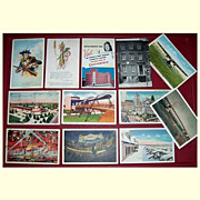 Twelve Assorted Vintage Postcards