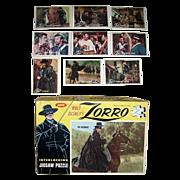 1958 Zorro Puzzle and Nine 1958 Zorro Topps Trading Cards