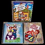 1944/45/57 Mother Goose and My Little Piggy Little Golden Books
