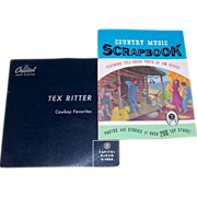 Tex Ritter 1969 Autographed Photo & 1955 Tex Ritter Cowboy Favorites Capitol Record Album
