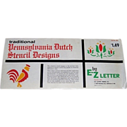 1962 Pennsylvania Dutch Stencils by E-Z Letter Company