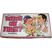 1979 Who's On First Memory Game, Abbott and Costello