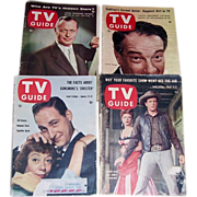 Four 1950's TV Guides, Robert Montgomery, Sid Caesar, Victor Borge, Gunsmoke